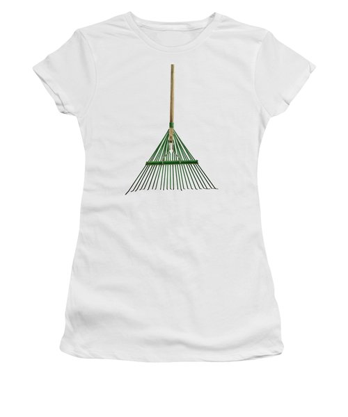 Women's T-Shirt (Junior Cut) featuring the photograph Tools On Wood 10 On Bw by YoPedro