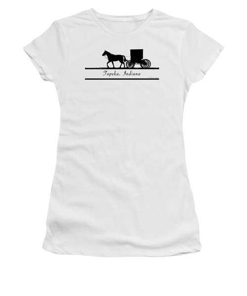 Topeka Indiana T-shirt Design Women's T-Shirt (Athletic Fit)