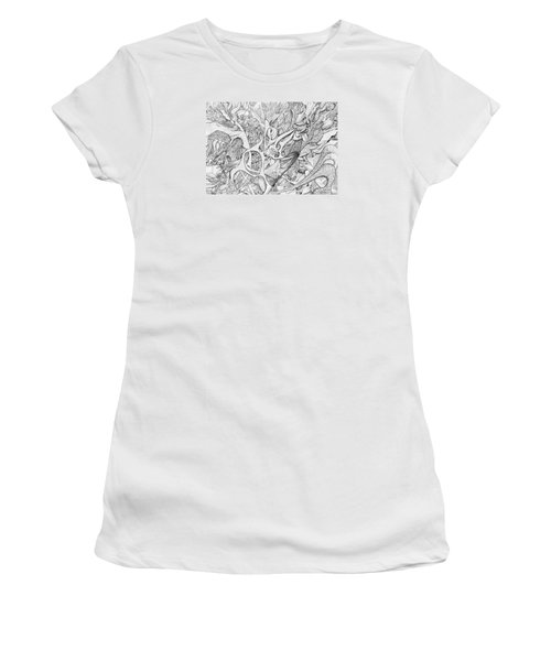 Tortuosity Women's T-Shirt (Junior Cut) by Charles Cater