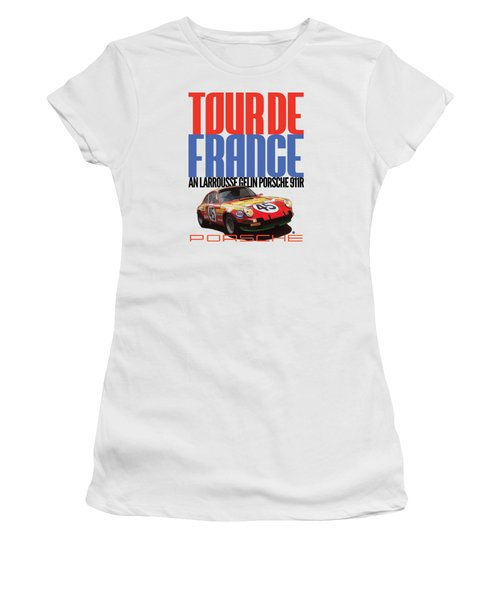 Tour De France Porsche Women's T-Shirt (Athletic Fit)