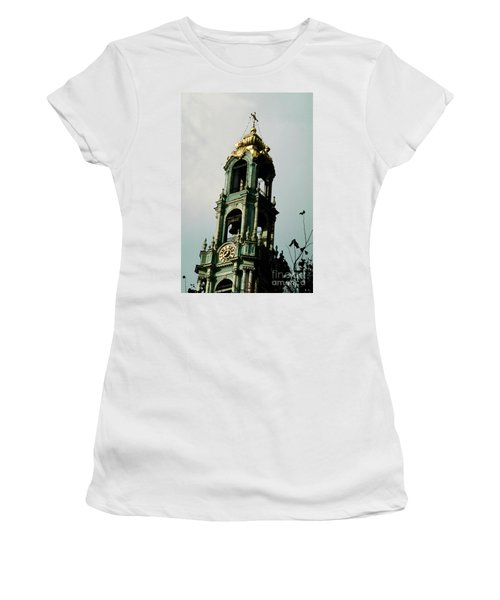 Tower Trinity Lavra Of St. Sergius Sergiev Posad Zagorsk Women's T-Shirt (Junior Cut) by Wernher Krutein
