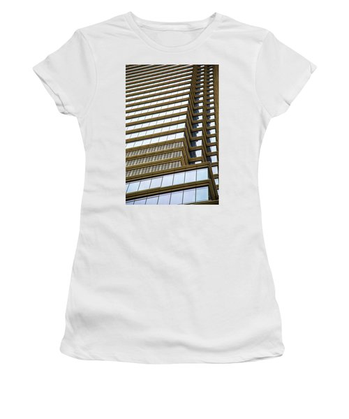 Women's T-Shirt (Junior Cut) featuring the photograph Towering Windows by Karol Livote