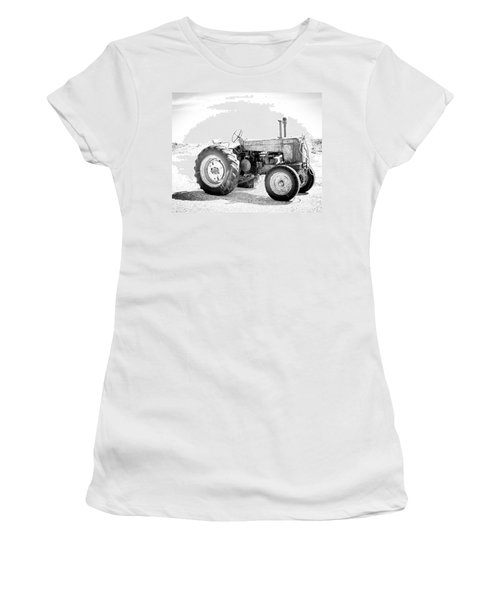 Tractor Women's T-Shirt (Junior Cut) by Silvia Bruno