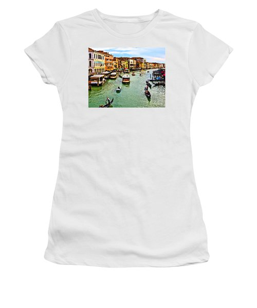 Traghetto, Vaporetto, Gondola  Women's T-Shirt (Athletic Fit)