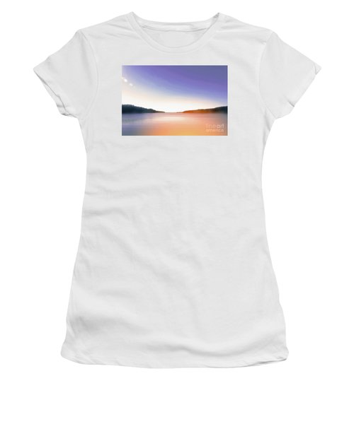 Tranquil Afternoon At The Lake Women's T-Shirt (Athletic Fit)