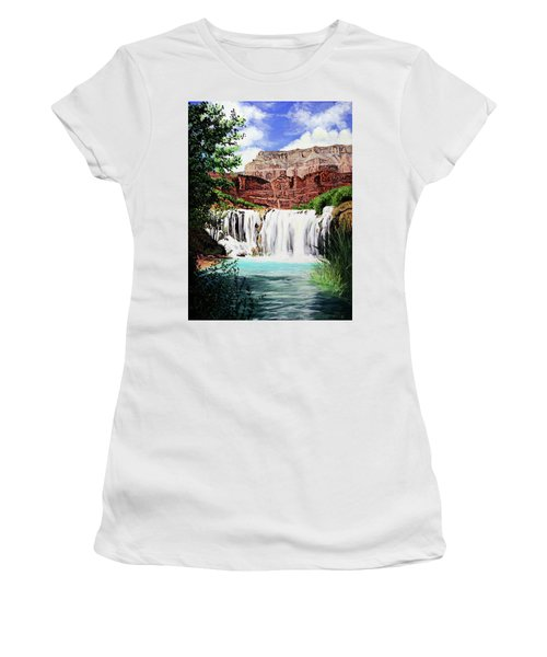 Tranquility In The Canyon Women's T-Shirt (Athletic Fit)