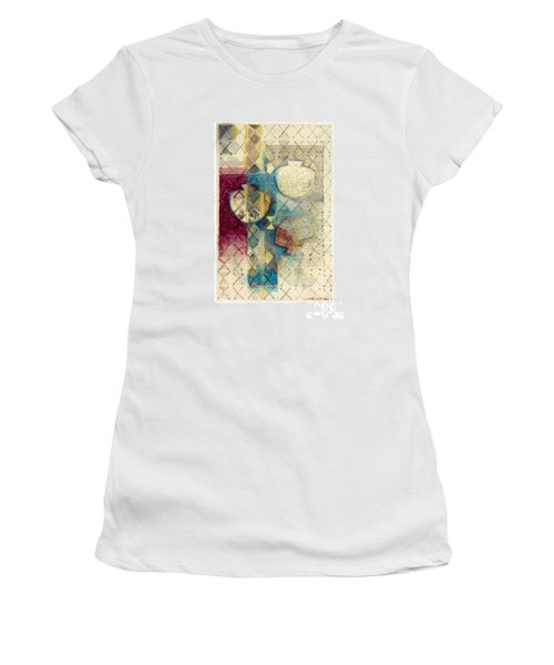Women's T-Shirt (Junior Cut) featuring the painting Trans Xs No 1 by Kerryn Madsen- Pietsch