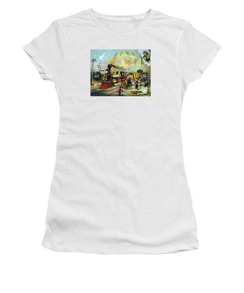Transcontinental Railroad Women's T-Shirt (Junior Cut) by War Is Hell Store