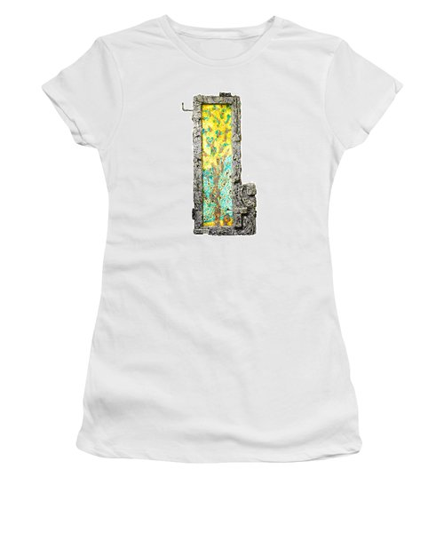 Tree And Stump Inside A Window Women's T-Shirt (Junior Cut)