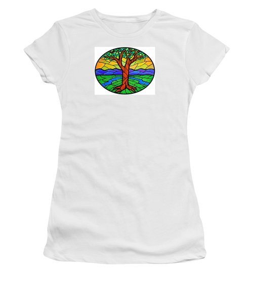 Tree Of Grace - Summer Women's T-Shirt (Junior Cut) by Jim Harris
