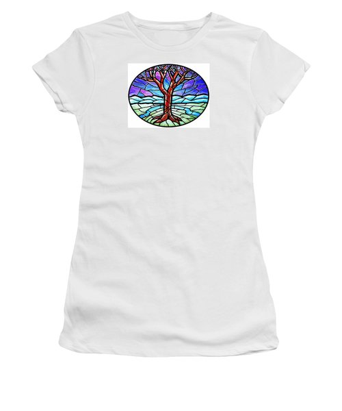 Tree Of Grace - Winter Women's T-Shirt (Junior Cut) by Jim Harris