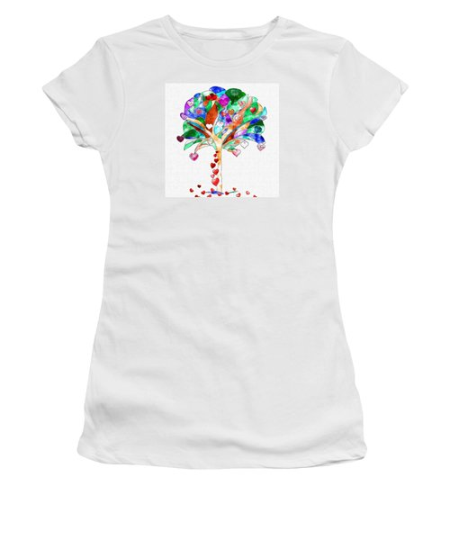 Tree Of Hearts Women's T-Shirt (Athletic Fit)
