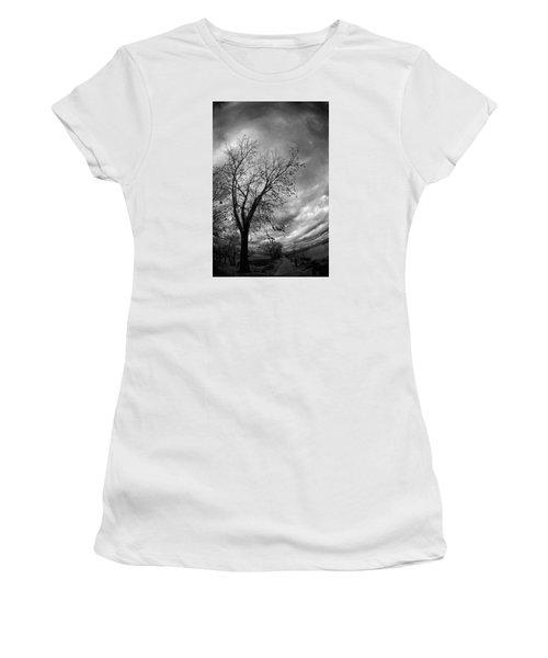 Tree 4 Women's T-Shirt (Junior Cut) by Simone Ochrym