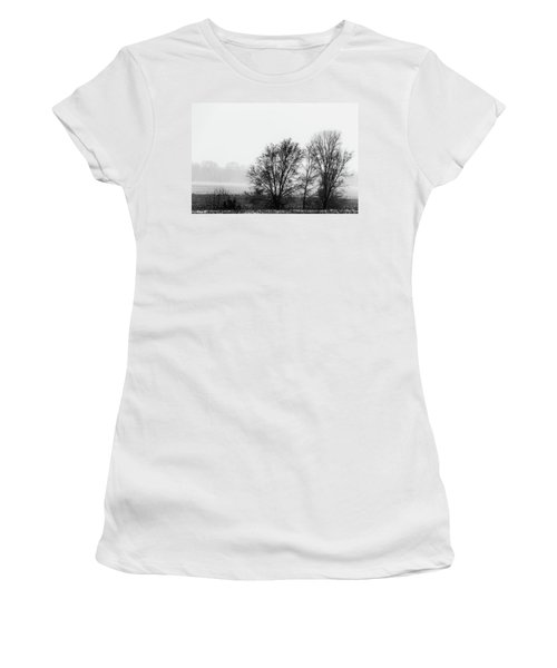 Trees In The Mist Women's T-Shirt (Junior Cut) by Jay Stockhaus