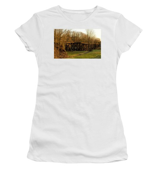 Women's T-Shirt (Athletic Fit) featuring the photograph Tressel View Sunset  by Betty Pauwels