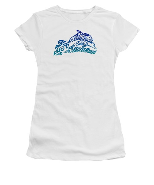 Tribal Dolphins Women's T-Shirt (Athletic Fit)