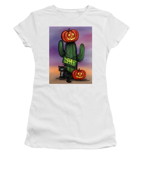 Trick Or Treat Cactus Women's T-Shirt (Athletic Fit)