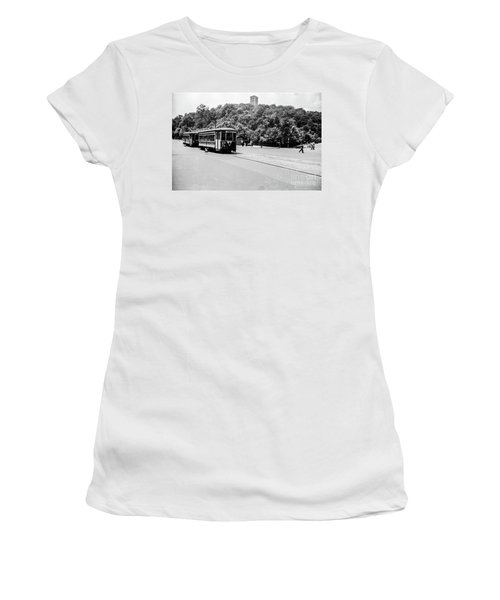 Women's T-Shirt (Athletic Fit) featuring the photograph Trolley With Cloisters by Cole Thompson