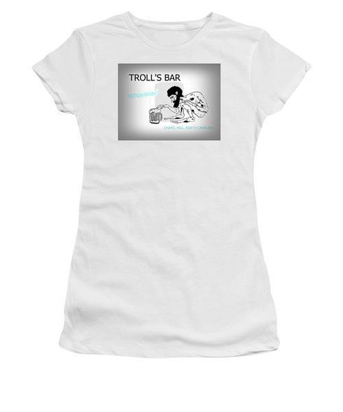 Troll's Bar Chapel Hill Nc Women's T-Shirt (Athletic Fit)