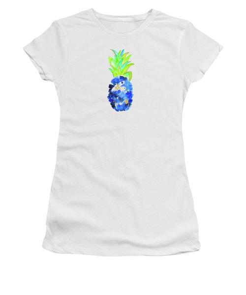 Tropical Cobalt Blue Pineapple Women's T-Shirt