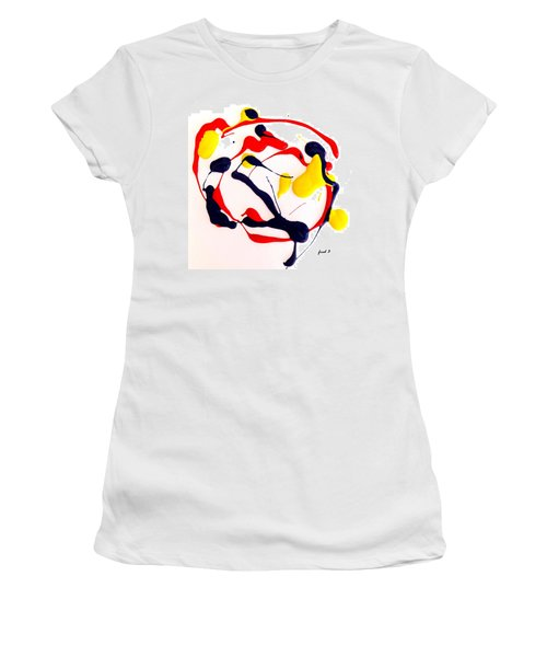 Women's T-Shirt (Junior Cut) featuring the painting Tropical Fish by Fred Wilson