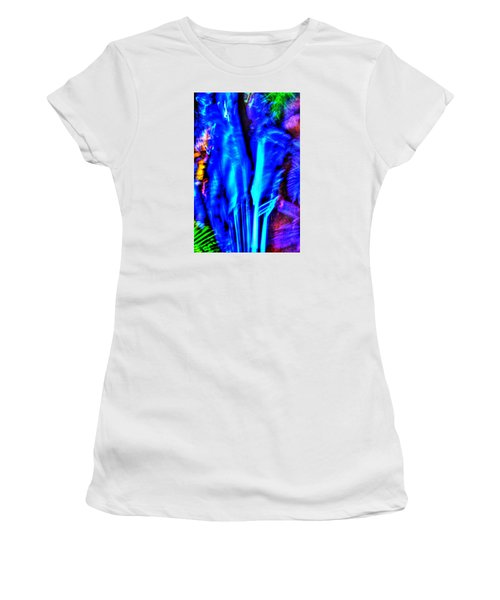 Women's T-Shirt (Junior Cut) featuring the photograph Tropical Lightshow  by Richard Ortolano