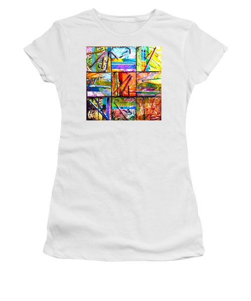 Tropical Stix Women's T-Shirt (Junior Cut) by Alene Sirott-Cope