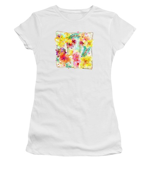 Tropicana Abstract By Kaye Menner Women's T-Shirt (Athletic Fit)