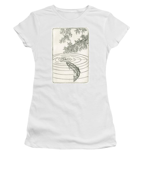 Trout Rising To Dry Fly Women's T-Shirt (Athletic Fit)