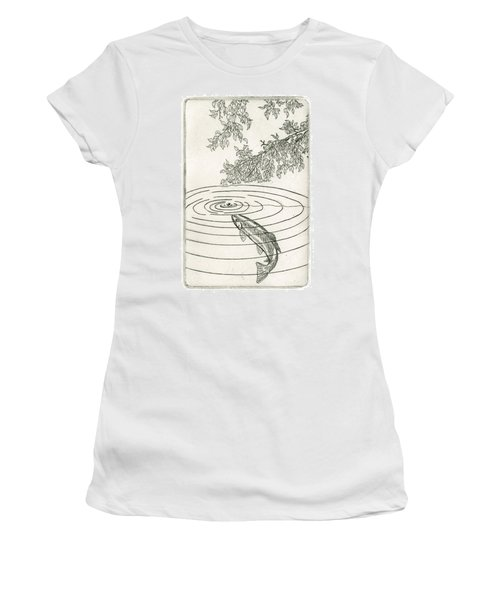 Trout Rising To Dry Fly Women's T-Shirt