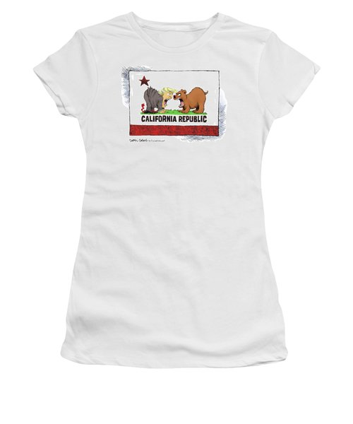 Trump And California Face Off Women's T-Shirt