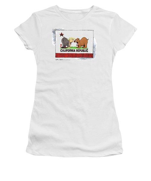 Trump And California Face Off Women's T-Shirt