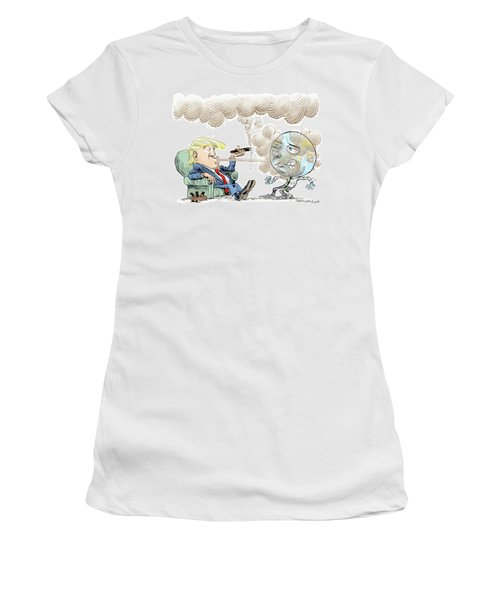 Trump And The World On Climate Women's T-Shirt