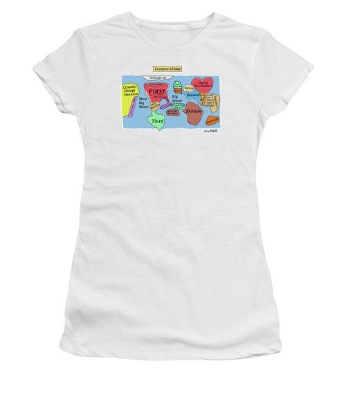 Trumpworld Map Women's T-Shirt