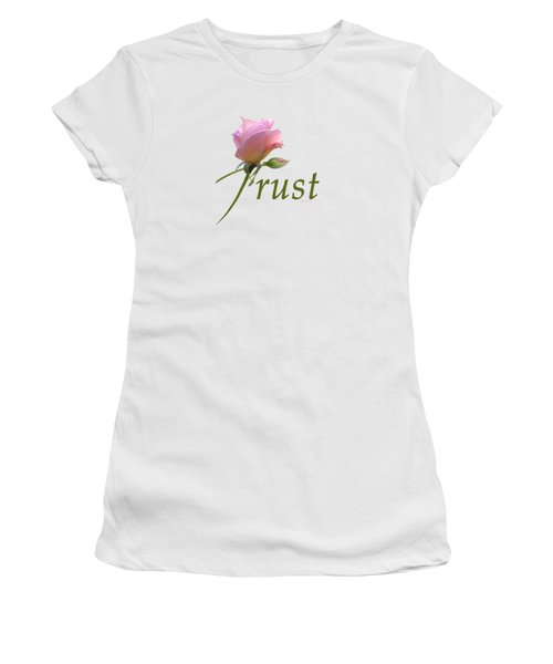 Women's T-Shirt (Junior Cut) featuring the digital art Trust by Ann Lauwers