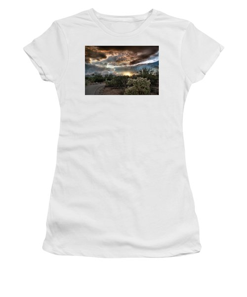 Tucson Mountain Sunset Women's T-Shirt (Athletic Fit)