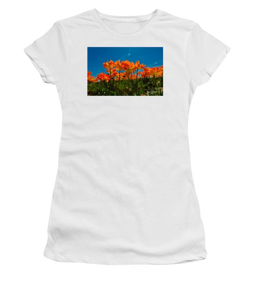 Tulips In The Sun Women's T-Shirt (Athletic Fit)