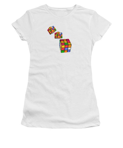 Tumbling Cubes Women's T-Shirt