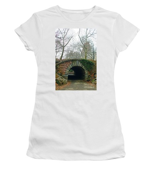Tunnel On Pathway Women's T-Shirt (Junior Cut) by Sandy Moulder