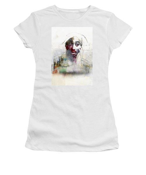 Tupac Graffitti 2656 Women's T-Shirt (Junior Cut) by Jani Heinonen