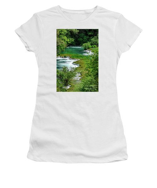 Turqouise Waterfalls Of Skradinski Buk At Krka National Park In Croatia Women's T-Shirt (Athletic Fit)