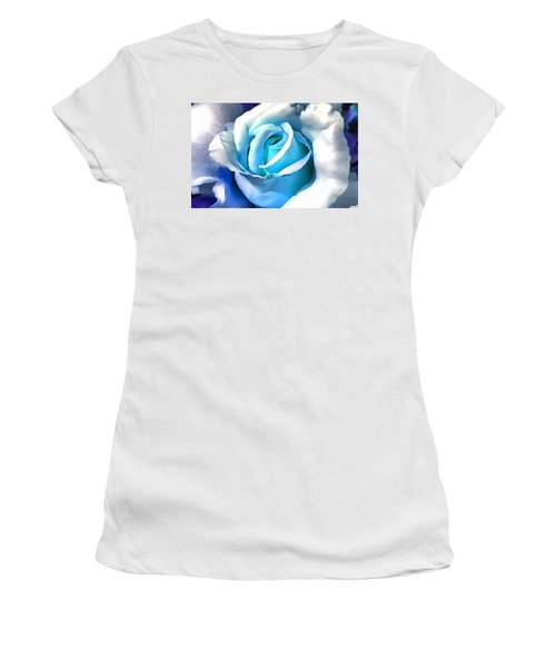 Turquoise Rose Women's T-Shirt