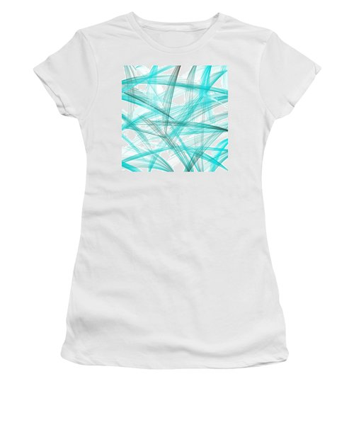 Turquoise Spikes Women's T-Shirt