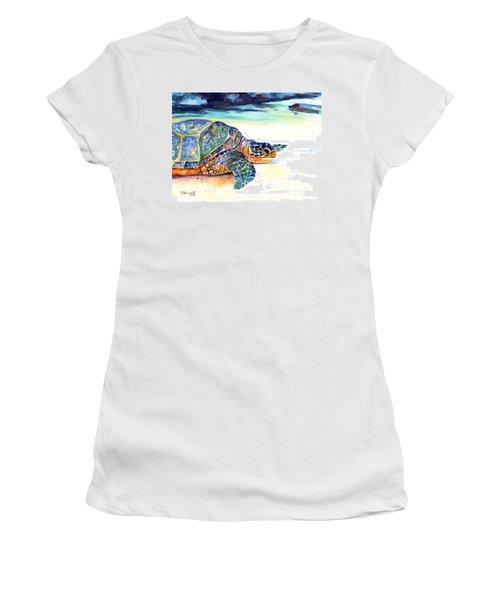 Turtle At Poipu Beach 2 Women's T-Shirt