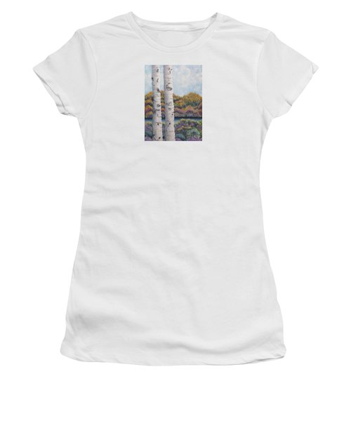 Twin Aspens Women's T-Shirt (Athletic Fit)