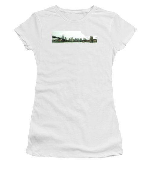 Women's T-Shirt featuring the photograph Two Bridges by Robert Knight