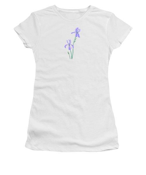 Two Elegant Iris  Women's T-Shirt