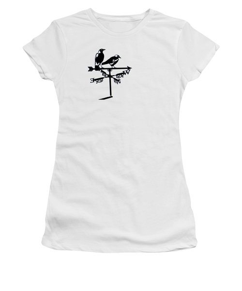 Two Magpies Women's T-Shirt (Junior Cut) by India Rattray