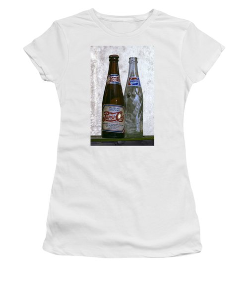 Two Pepsi Bottles On A Table Women's T-Shirt