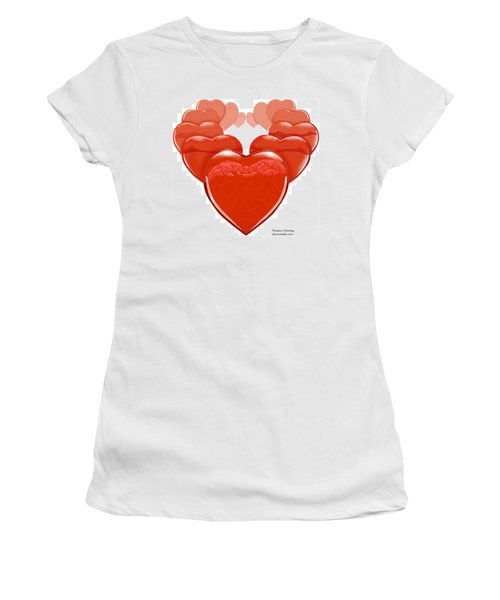 Two Hearts Become One Women's T-Shirt